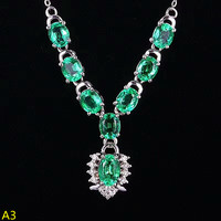 KJJEAXCMY boutique jewelry,925 pure silver inlaid natural grandmother emerald female Pendant Necklace
