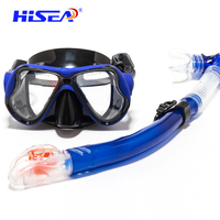 Diving Mask Full Dry Breathing Tube Scuba Snorkel Goggle Snorkeling Mask Adult Snorkel Set Equipement Suit Underwater Watersport