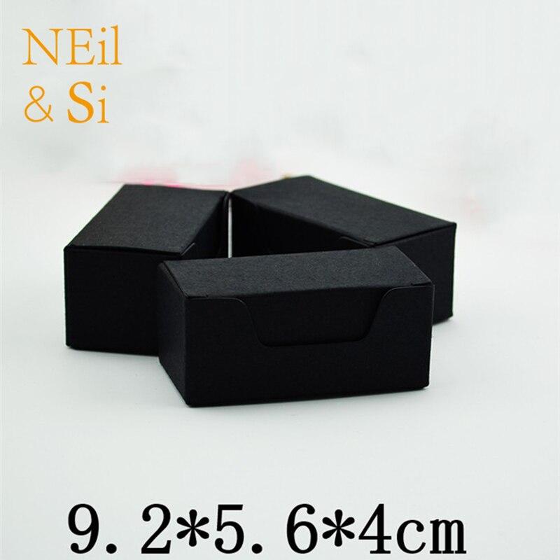 Us 33 99 Business Visitenkarte Verpackung Papier Box Braun Schwarz Geschenk Favor Diy Seife Cookies Hochzeit Candy Boxen Kostenloser Versand In