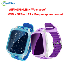 HANGRUI Q80 Niños reloj Inteligente WiFi + GPS + LBS Niños SOS Rastreador Kid Safe App Monitor IP67 A Prueba de agua Reloj Buscador de la localización