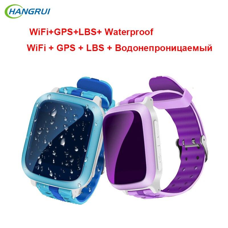 HANGRUI Q80 Children Smart watch WiFi+GPS+LBS Children SOS Tracker Kid Safe App Monitor IP67 Waterproof Clock Location Finder