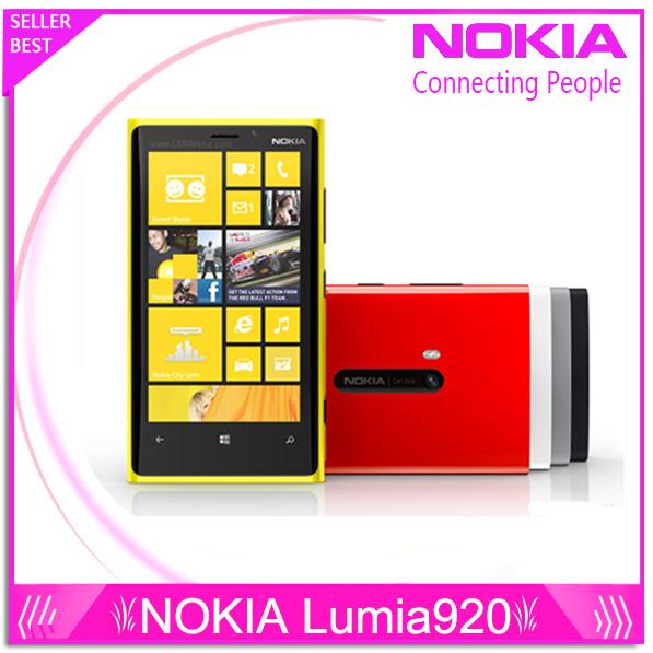 Original del teléfono Nokia Lumia 920 4.5 '' táctil Wifi NFC Gps 3 GB 4 G 32 GB de almacenamiento cámara de 8MP desbloqueado Windows teléfono celular del envío gratis