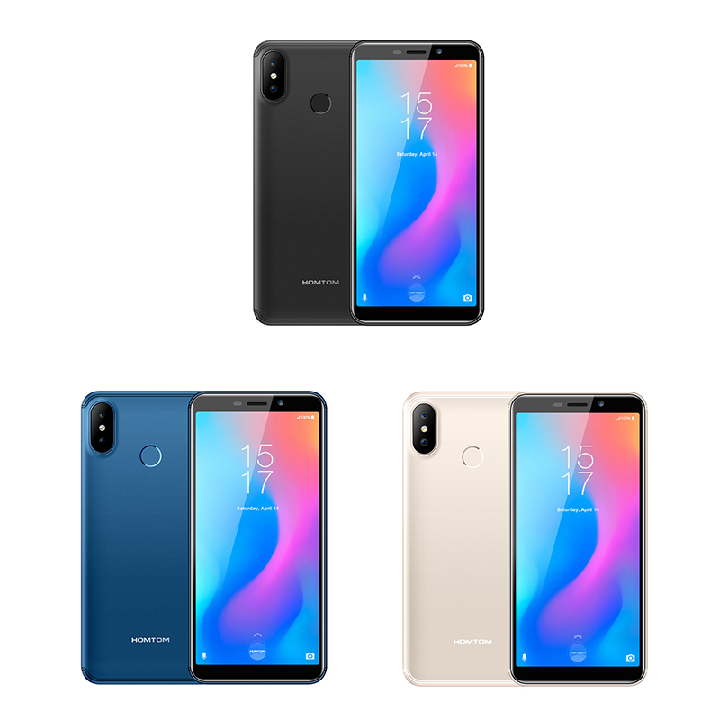 Original HOMTOM C2 Android 8.1 2GB + 16GB ROM téléphone portable identification faciale MTK6739 Quad Core 13MP double caméra OTA 4G FDD-LTE Smartphone - 3