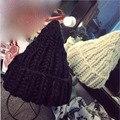 2016 Nueva Versión Coreana de Las Mujeres de Moda de Invierno de Punto línea Shag Flanging Sombreros de Lana de Invierno Cálido sombrero de bruja Sombreros Multicolores