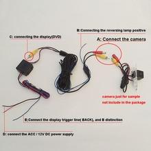 Фильтр Автомобильная камера заднего вида видео и провода питания Кабели стабилизированный 12 В DC реле конденсатор/реле-выпрямитель авто автомобиль