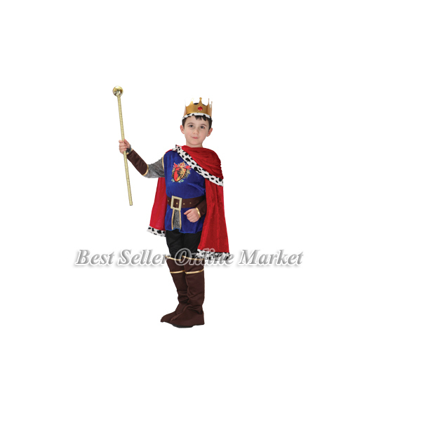 best sale new halloween costumes boys cool prince cosplay clothing children male king clothes christmas party