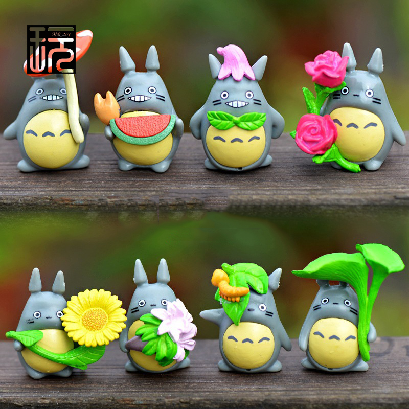 2016 New Arrival, 8 styles Cute Mini Anime Totoro Set Fairy Garden Miniatures Terrarium Figurine Micro Landscape Decoration image