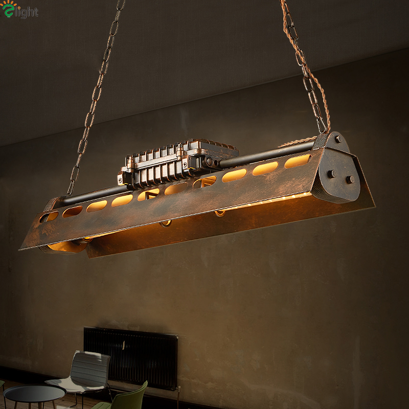 American Retro Metal Led Pendant Lights Edison Bulbs Dining Room Led Pendant Light Loft Led Pendant Lamp Hanging Light Fixtures
