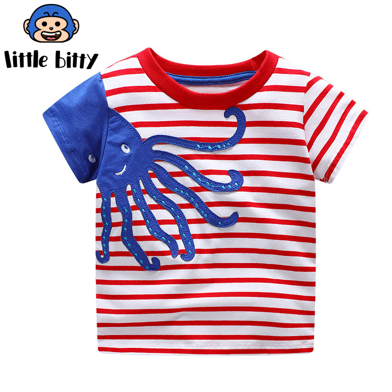 Для маленьких мальчиков одежда для малышей Одежда для девочек футболки Забавная детская  ...