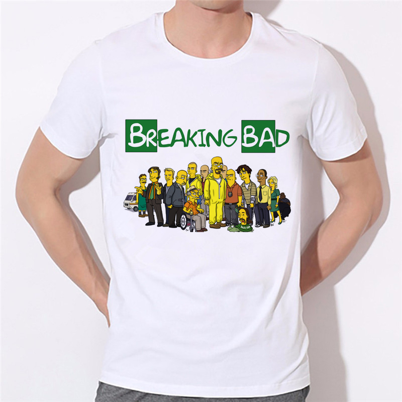 Breaking Bad T Shirts Men Funny Man T-Shirts O Neck Casual Tshirt US Size Tops Factory Outlets Can Be Customized 43N-8#