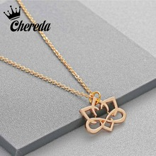 Chereda Alloy Silver Gold Color Pendant Charm Sweet Flower Necklace For Women Hollow Classic Lady Girls Jewelry Fine Accessories comtex syl149042 lady watch fashion classic gold color sweet ladylike