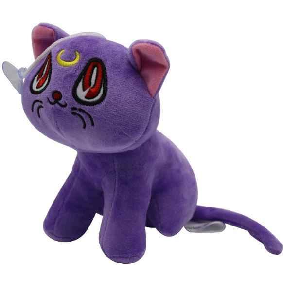 1 adet Sıcak Satış Anime Sailor Moon Luna Kedi Peluş Bebek Oyuncak yumuşak dolgulu peluş oyuncaklar Hediye Süslemeleri