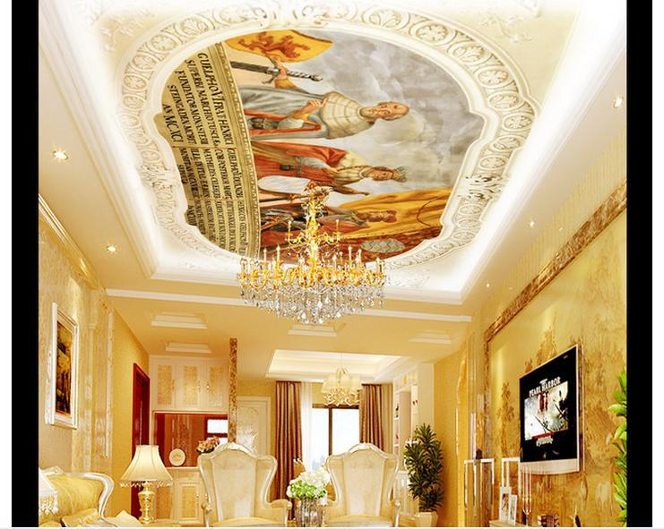 3d wallpaper 3d ceiling wallpaper murals european style for Designer mural wallpaper