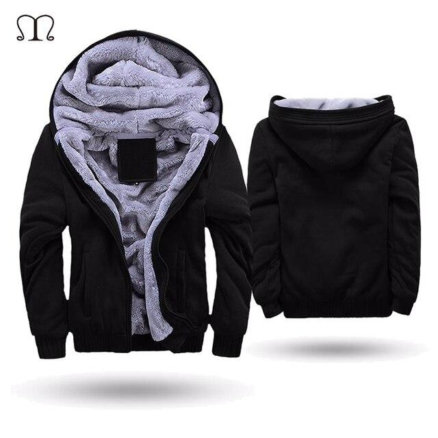 Американские/европейские размеры супер теплые толстовки мужские зимние толстые флисовые мужские куртки повседневные толстовки с капюшоном на молнии для Взрослых Пальто Верхняя одежда для мужчин