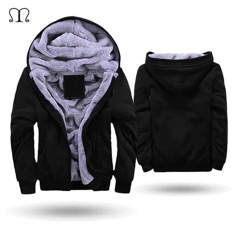 US/EU SIZE Super Warm Hoodies Sweatshirts Men Winter Thick Fleece Men's Jackets Casual Zipper Hoody Adult Coats Top Clothes Male
