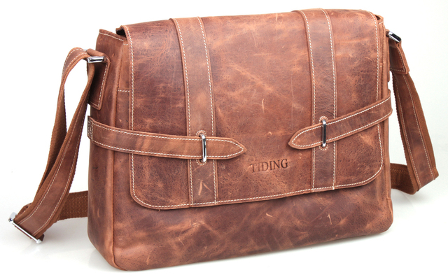 4ecd6f53cb New Fashion Crazy Horse Leather Messenger Bag Casual Style Vintage Satchel  Best Student Cross-body School Bag 10453