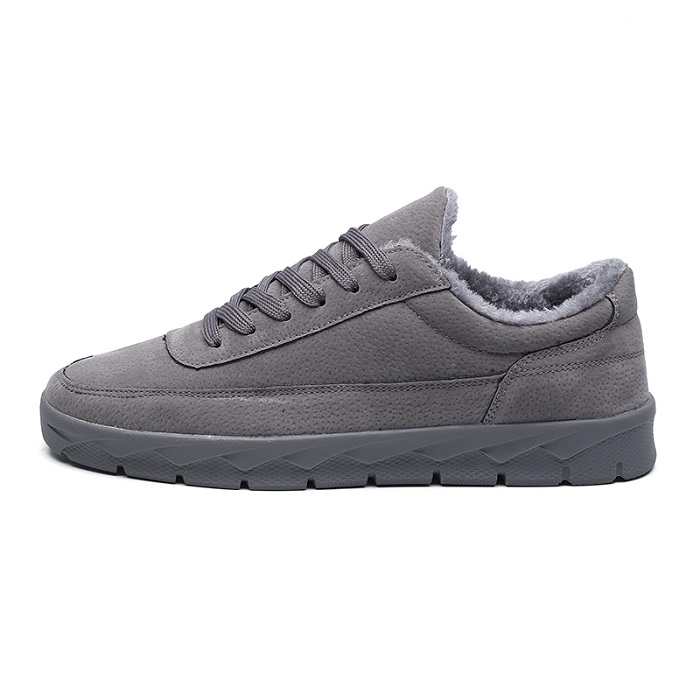 8385f4afe32 VESONAL Brand Leather Sneakers Male For Men Shoes Adult 2018 Winter Warm  Fur Comfortable Short Plush Lace Up Footwear Quality-in Men's Casual Shoes  from ...