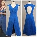 Игра престолов Daenerys Targaryen Женщины Женский Лето Синий Лонг Dress Партия Хэллоуин Косплей Костюм