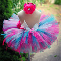 Handmade Fluffy Kids Girls Tutu Skirt Rainbow Tutu Multilayer Baby Tulle Skirt Birthday Party Tutus Pettiskirts Girls Skirts