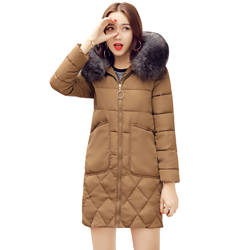 Winter Jacket 2017 New Fashion Women jacket Slim Large size Hooded Jacket high quality Women Thick Warm Cotton Outwear 5L11 new fashion winter jacket women fur collar hooded jacket warm thick coat large size slim for women outwear parka women g2786