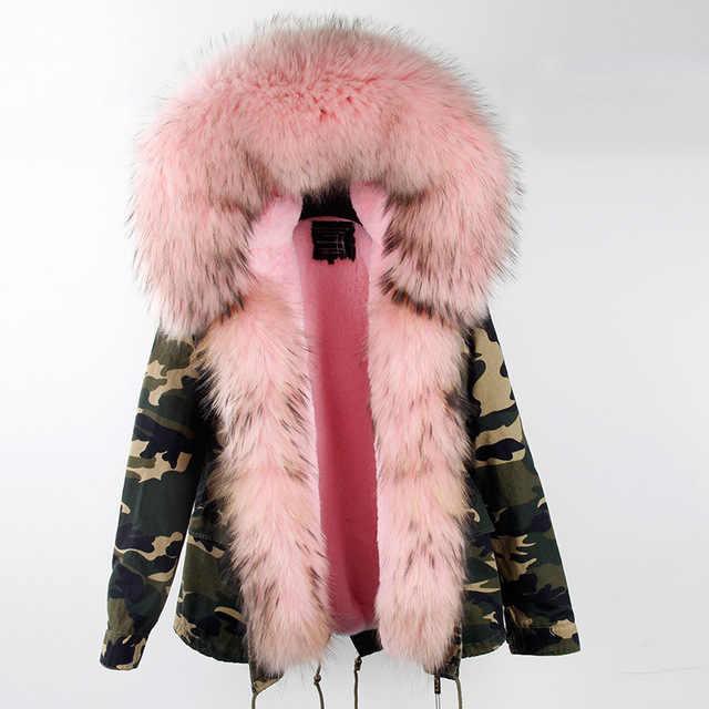 2019 Фирменная Новинка хаки зеленая зимняя куртка для женщин зимнее пальто женские парки натуральный мех пальто большой натуральный мех енота воротник верхняя одежда
