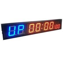 """"""" 8 цифр светодиодные часы с функцией обратного отсчета тренировки таймер для гаража дома тренажерный зал Crossfit Обучение EMOM Табата фитнес таймер"""