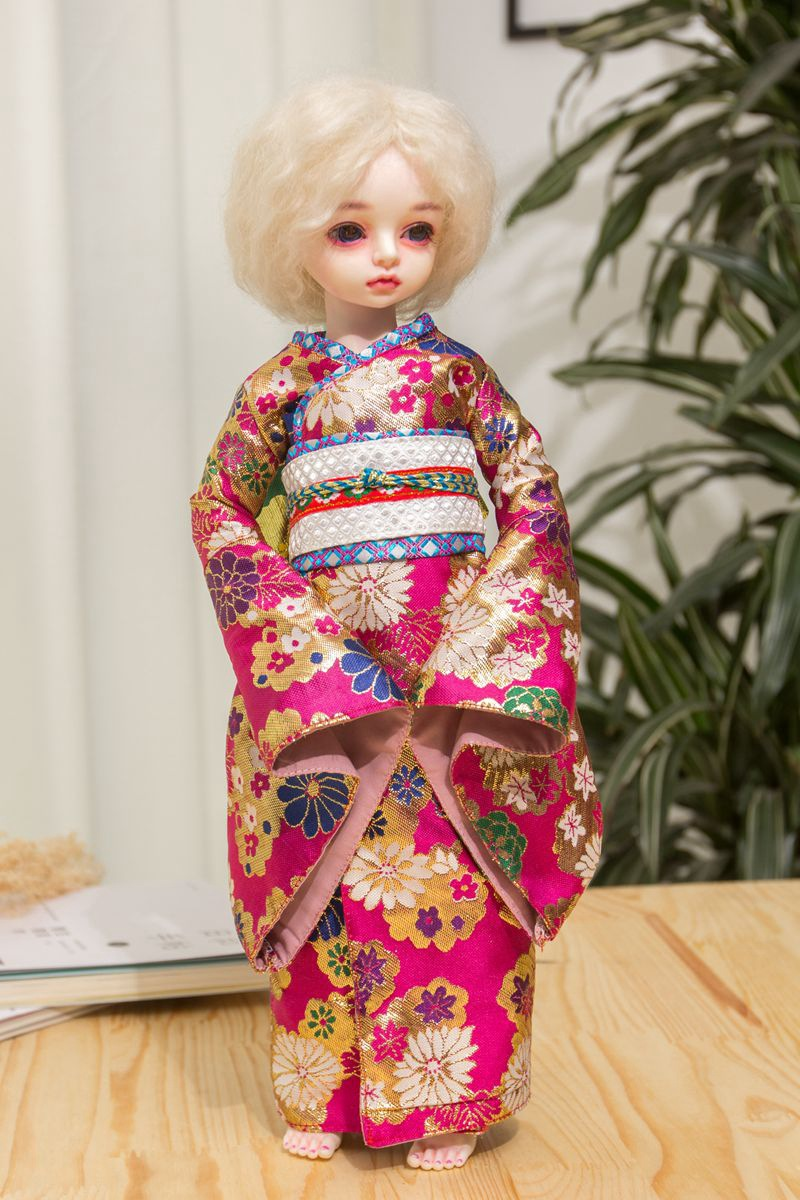 Kimono Clothes Wear Fit For 38-42cm 1/4 BJD SD Dolls Washing Handmade Doll's Accessories Dolls Clothing Collection  fit sd 4 8 80235
