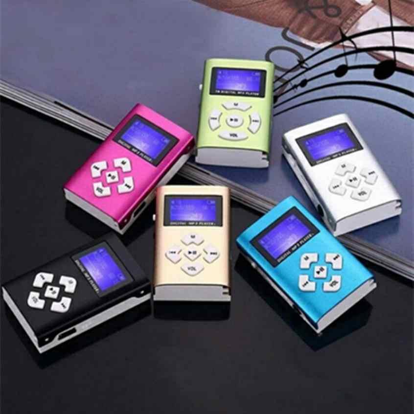 شحن مجاني Hifi USB مشغل MP3 صغير LCD حامل شاشة 32 جيجابايت مايكرو SD TF بطاقة الأسود دون مكبرات لسماعة الأذن شحن مجاني