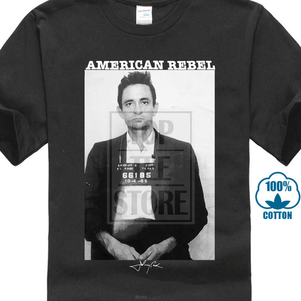 245d2798691 Johnny Cash T Shirts Mens Short Sleeve 2019 New Hipster T Shirt ...