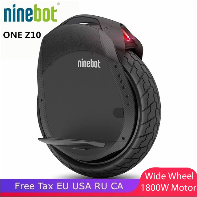 Newest NINEBOT ONE Z10 electric unicycle wide wheel 1800W motor maximum speed 45km/h, battery 1000WH, Bluetooth, smart APP