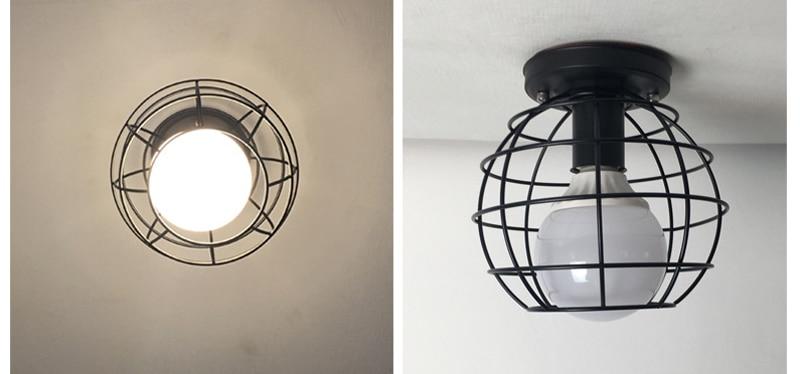 HTB1dGMiKb1YBuNjSszeq6yblFXaK Vintage Ceiling Lamp For Living Room Bedroom Nordic Wrought Iron Retro Corridor Aisle For Living Room Bar Ceiling Light