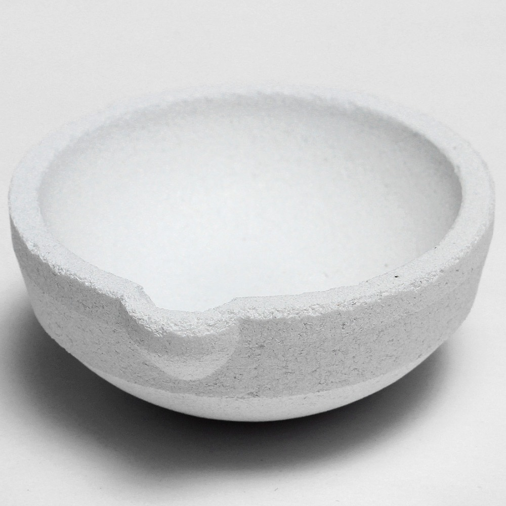 New High-quality Silica Smelting Kettle Crucible Plate Casting Gold Silver Platinum Refining Diameter: 45 Mm Height: 22 Mm