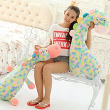 Freeshipping big size Lovely giraffe plush toys pillow wholesale and retails Best choice for girls / Christmas gift