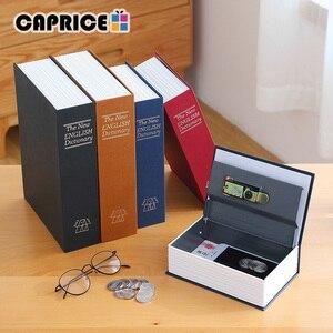 Image 2 - Metall Sparschwein Versteckte Buch Safe Geld Box Savimg Lagerung Box für Kinder Kid Schmuck Hause Dekoration Zubehör SB S