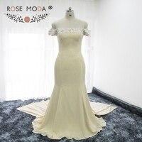 Rose Moda Off Shoulder Short Sleeves Mermaid Mother of the Bride Dresses Formal Wedding Guest Dresses Plus Size MOB Dresses