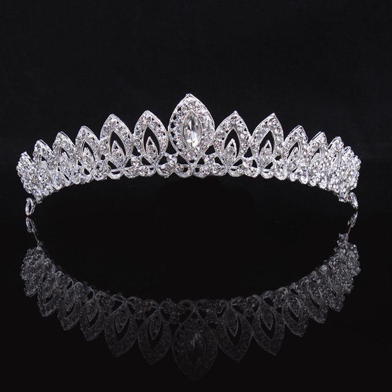 Aliexpresscom  Buy Gorgeous Silver Crystal Alloy Heart Bridal Tiaras Crown Rhinestone Pageant