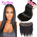 9A Brazilian Virgin Hair Ear to Ear Lace Frontal Closure with Bundles Brazillian Straight Hair Brazilian virgin with Closure