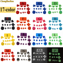 ChengHaoRan 17colors Full Set Joysticks D pad R1 L1 R2 L2 Direction Key ABXY Trigger Buttons For Sony PS4 Pro JDS040 Controller