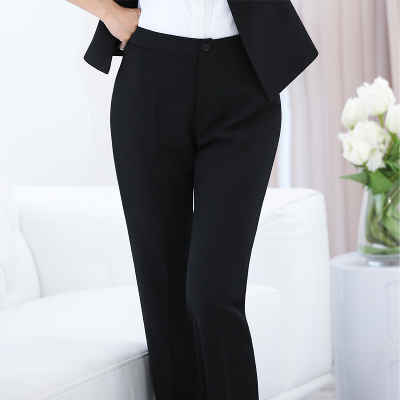 Slim Professional Suit Pants To Increase The Size Of Black Pants Female Adjustable Size Pants Women