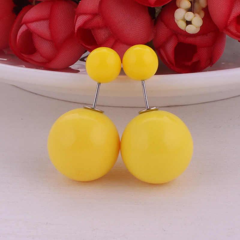 13 สีคลาสสิกที่มีสีสันคู่ต่างหูไข่มุก Candy Shining สีจำลองไข่มุกของขวัญเครื่องประดับ