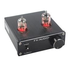 ใหม่ FX AUDIO หลอด   01 Mini Hifi Bile 6J1 หลอด Preamplifier Booster Pre   Amplifier Bile บัฟเฟอร์เครื่องขยายเสียงโฮมเธียเตอร์ DC12V