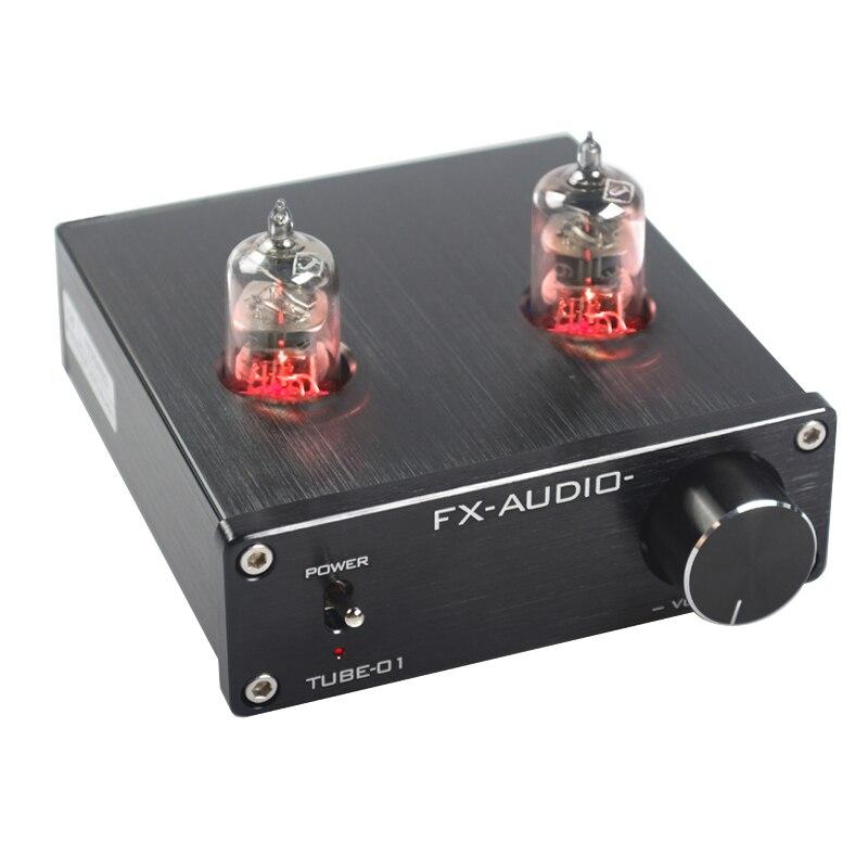 Nouveau FX-AUDIO TUBE-01 Mini Hifi Bile 6J1 Tube préamplificateur Booster pré-amplificateur Bile tampon amplificateur home cinéma DC12V