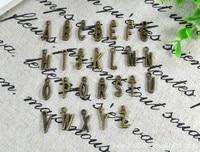 1 set / 26 אלפבית מכתב קסמי טון ברונזה עתיק טיבטי נהדר עבור כל כך הרבה פרויקט ,