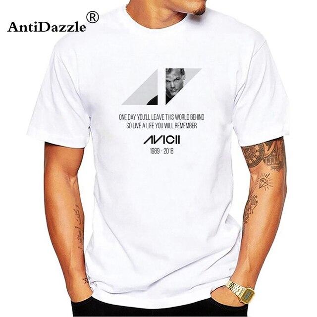 US $7 99 |Aliexpress com : Buy Men Women Print Music Dj Avicii T Shirt Wake  Me Up Unisex T shirt 2018 Hipster short sleeve cotton tops tees from