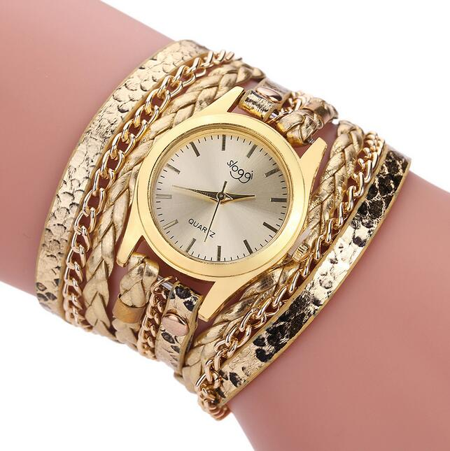 Luxury Brand Leather Quartz Watch Women Ladies Casual Fashion Bracelet Wrist Watch Clock relogio feminino leopard braided female luxury fashion brand bracelet watches women men casual quartz watch leather wrist watch wristwatch clock relogio feminino