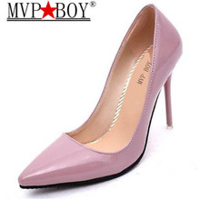 MVP BOY Woman High Heels Pumps Red 10CM Women Shoes Wedding Black Nude