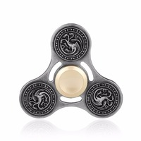 2017 New Fidget Toy Game Of Thrones Hand Spinner Three Dragon Metal Finger Stress Tri Spinner