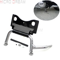 Adjustable Motorcycle Center Stand Support with Mounting Hardware Chrome Service Stand For Harley Touring FLH FLT 2009 Up