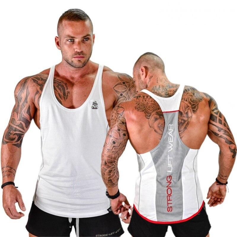 Strong Lift Cotton Gyms   Tank     Tops   Men Sleeveless Tanktops For Boys Bodybuilding Clothing Undershirt Fitness Stringer Golds Vest