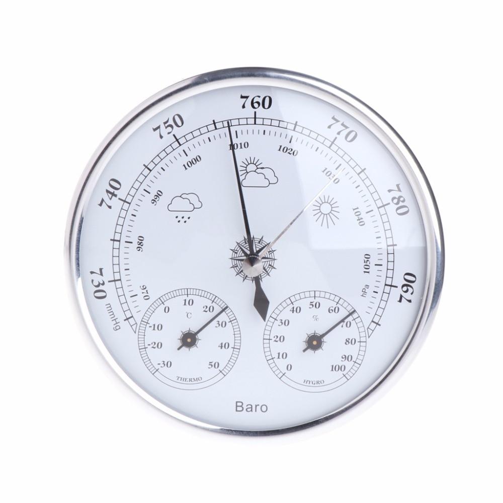 Hogar estación meteorológica barómetro termómetro higrómetro pared colgante